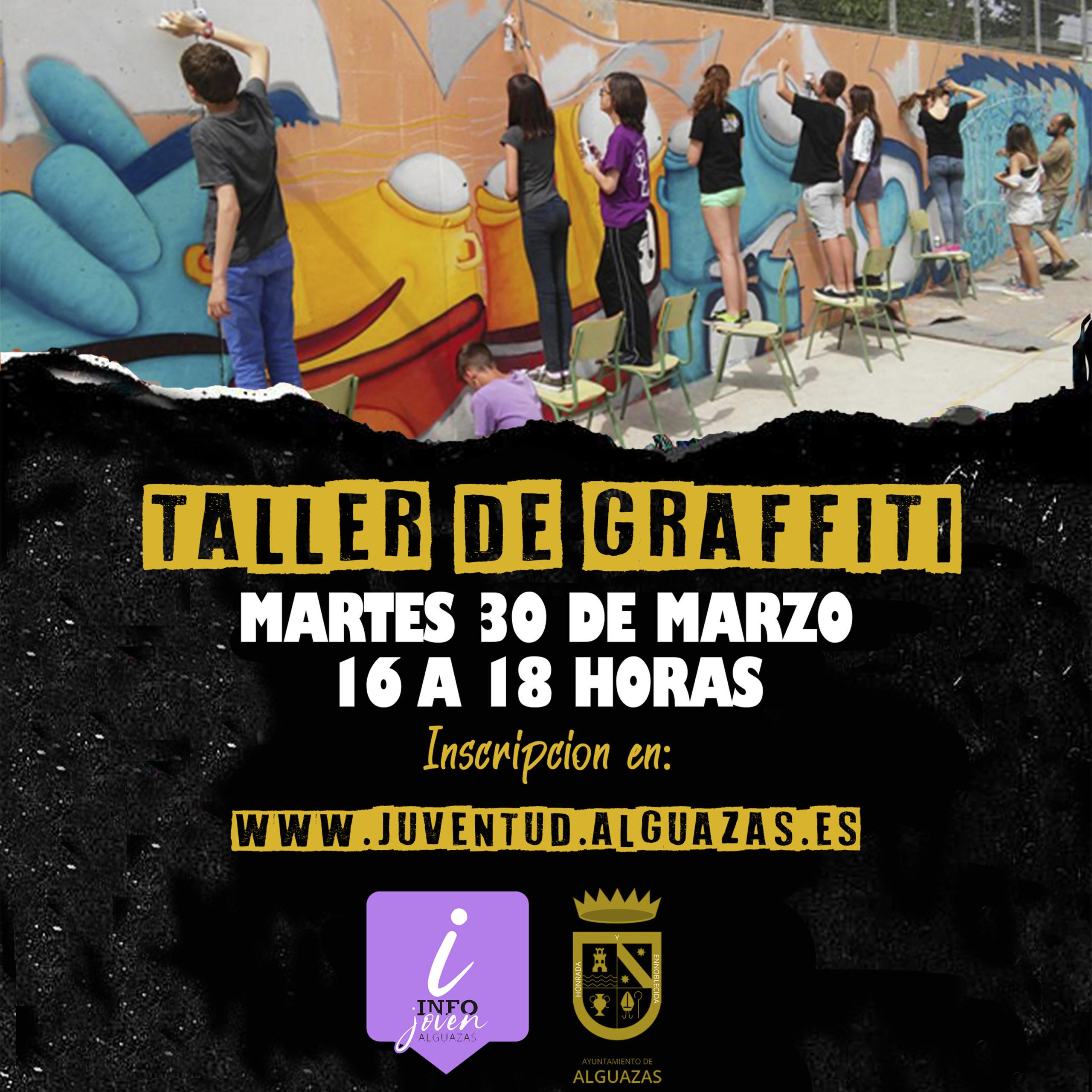 Taller de graffiti en Alguazas
