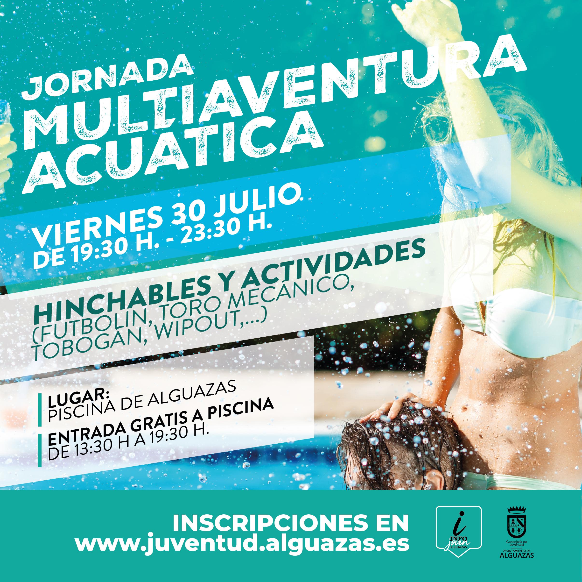 Día Multiaventura Acuático en la piscina de Alguazas (gratis)
